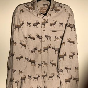 Woolrich Flannel With Moose Print.
